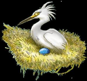 Mevrouw Sabaku wacht ongeduldig op het uitkomen van haar enige ei in het nest